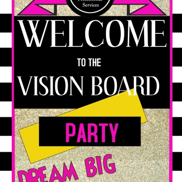 Vision Board Party Poster